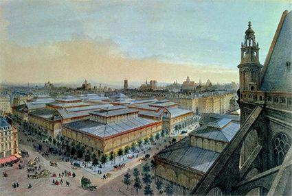 Les halles anciennes paris saint eustache
