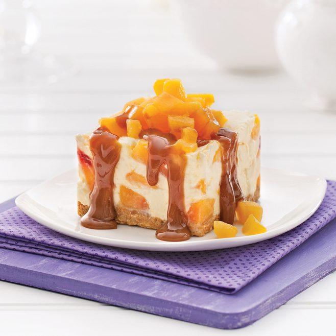 Dessert glace au yogourt mangue et peche 1